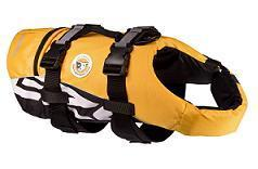 Ezydog Dog Flotation Device yellow with black straps